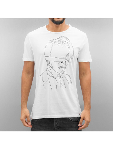 French Kick Hombres Camiseta Karli in blanco