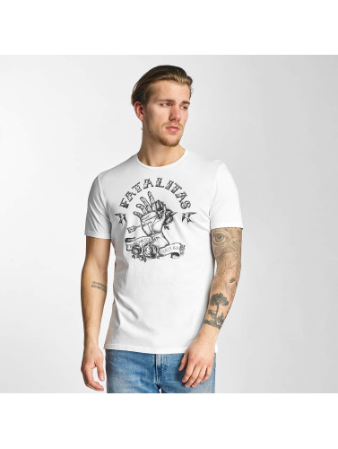 French Kick Hombres Camiseta Ectoplasme in blanco