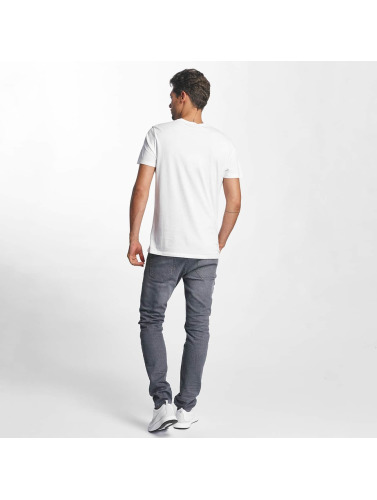 French Kick Hombres Camiseta Woaow in blanco