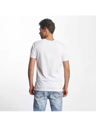 French Kick Hombres Camiseta Acolo in blanco