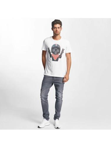 French Kick Hombres Camiseta Steve in blanco