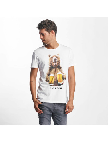 French Kick Hombres Camiseta Big B in blanco
