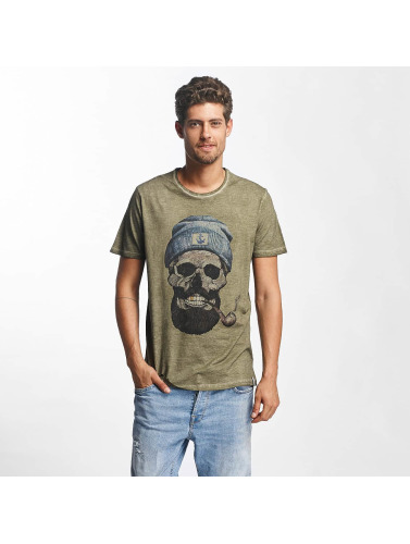 French Kick Hombres Camiseta Barbus Bro in caqui