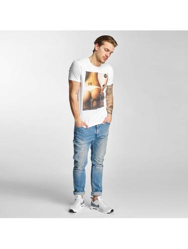 French Kick Herren T-Shirt Bouteille in weiß