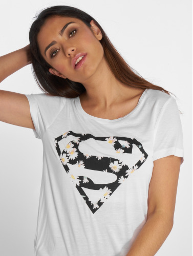 Fresh Made Mujeres Camiseta Supergirl in blanco