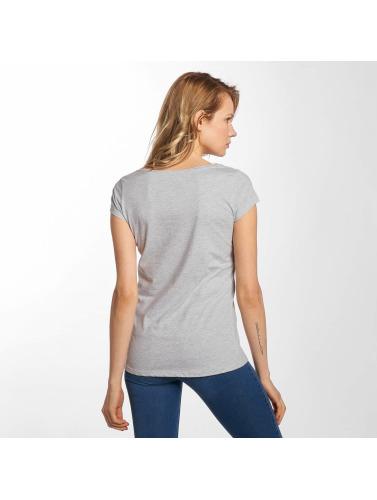 Fresh Made Mujeres Camiseta Basic in gris
