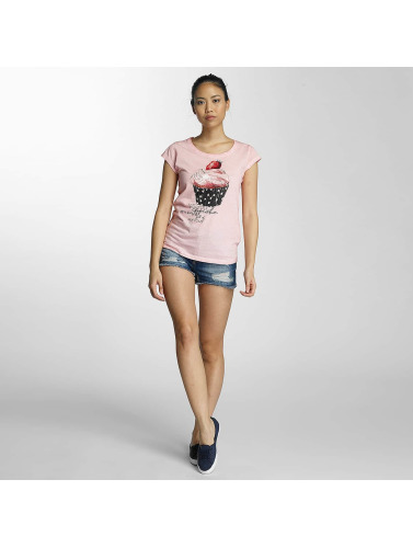 Fresh Made Mujeres Camiseta Muffin in rosa