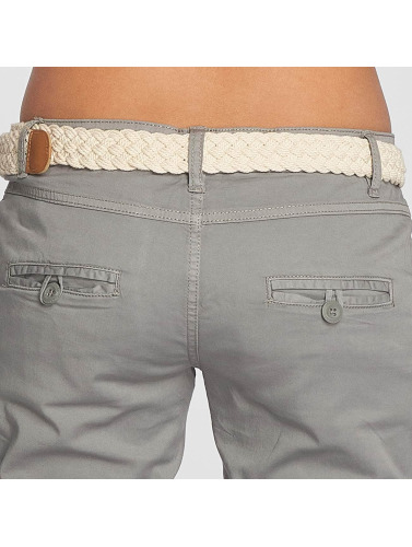 Fresh Made Mujeres Chino Felize in gris
