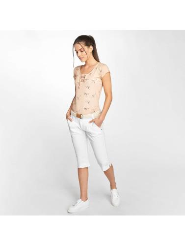 Fresh Made Mujeres Pantalón cortos Capri in blanco