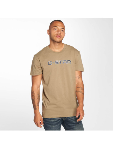 G-Star Hombres Camiseta Geston in beis