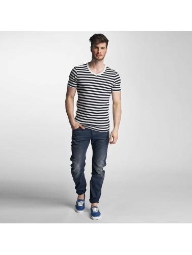 billig for fint G-stjerne Hombres Camiseta Bundet Kul Ribben Liten Fremste Stripe V I Blanco billig klaring autentisk billig online for fint salg online swPTvFZ3b