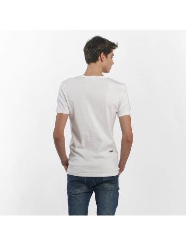 G-Star Hombres Camiseta Mai Slim Cool Rib in blanco