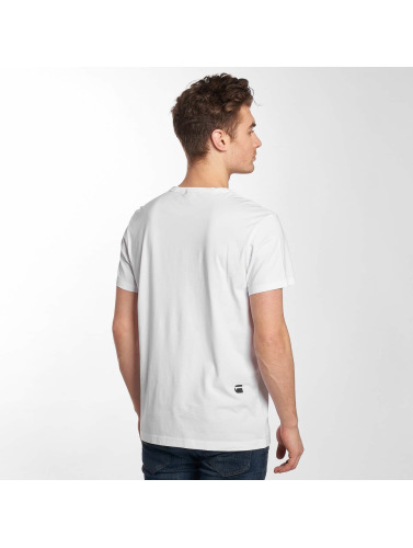 G-Star Hombres Camiseta Noct Compact in blanco