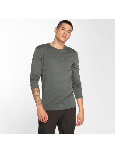 G-Star Hombres Camiseta de manga larga Belfurr Compact Jersey Regular Pocket Rib in gris