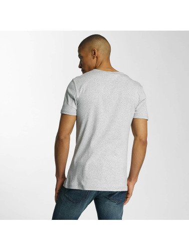 G-Star Hombres Camiseta Drillon Cool Rib in gris