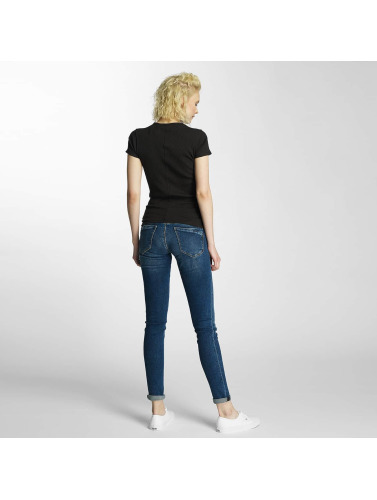 rimelig billig pris klaring nettsteder G-stjerne Mujeres Camiseta Silber Slank Trin Ribben I Neger for fin online kjøpe din favoritt rAJFucRl