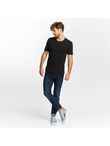 G-Star Hombres Camiseta Base in negro