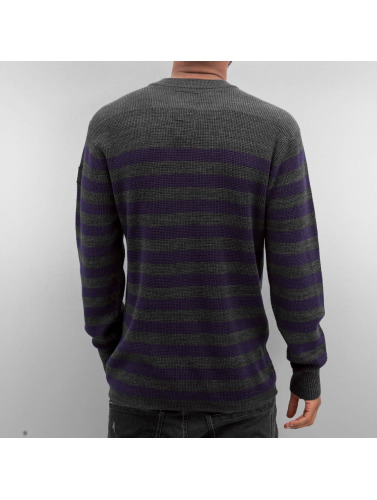 G-Star Herren Pullover Dadin Stripe Knit in grau