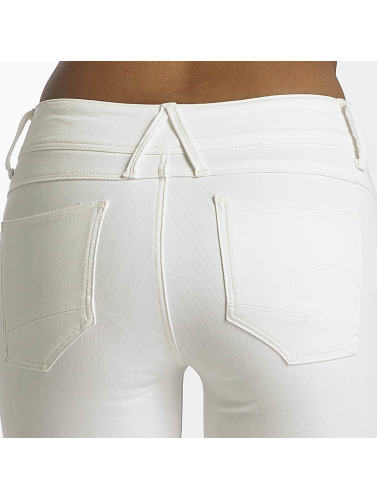 G-Star Damen Skinny Jeans Lynn D-Mid Yield Ultimate Denim Ankle Stretch in weiß
