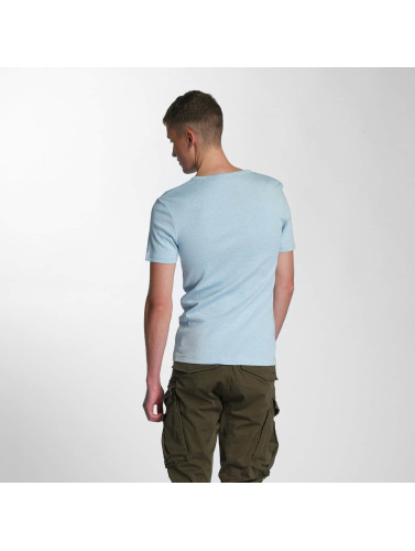 G-Star Herren T-Shirt Drillon Cool Rib in blau