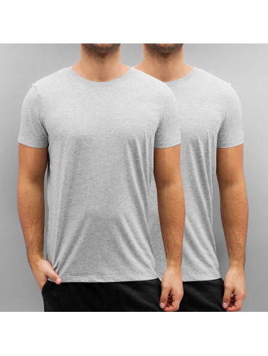 G-Star Herren T-Shirt Base 2er Pack in grau