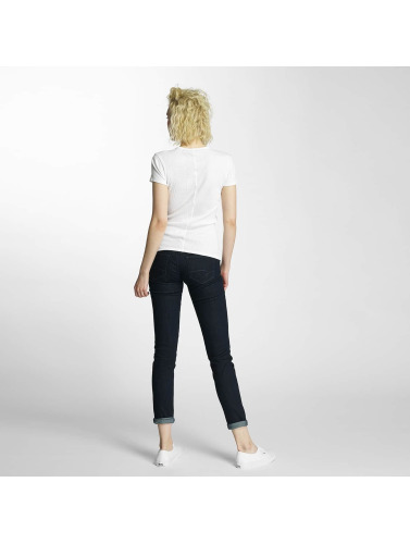 G-star Dames T-shirt Argent Mince Trin Côtes En Blanc