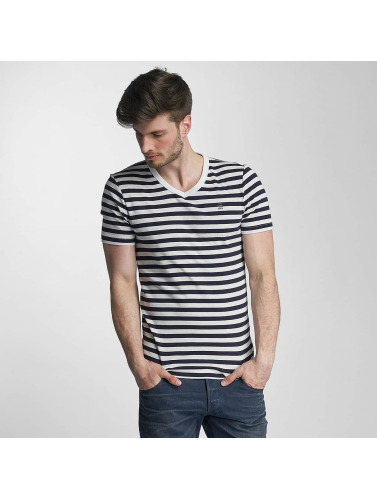 G-Star Herren T-Shirt Bonded Cool Rib Small Premiere Stripe V in weiß