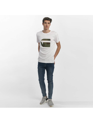 G-Star Herren T-Shirt Mai Slim Cool Rib in weiß