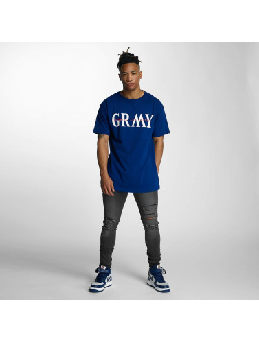Grimey Wear Hombres Camiseta Mist Blues in azul