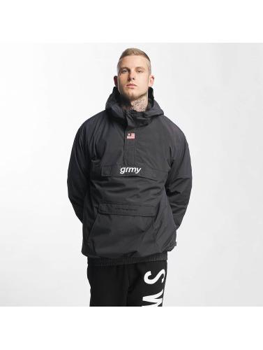 Grimey Wear Hombres Chaqueta de entretiempo The Lucy Pearl Raincoat in negro