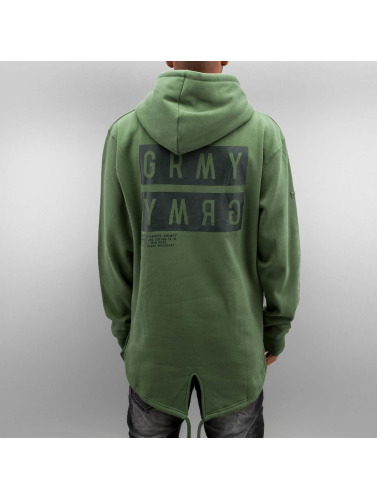Grimey Wear Herren Hoody Bowels Of The D Long in grün