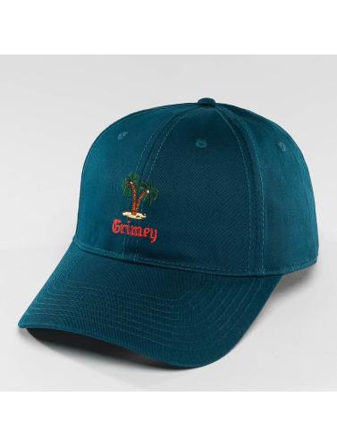 Grimey Wear Snapback Cap In Havana Curved Visor in blau
