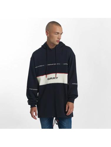 Grimey Wear Hombres Sudadera Counterblow Long in azul