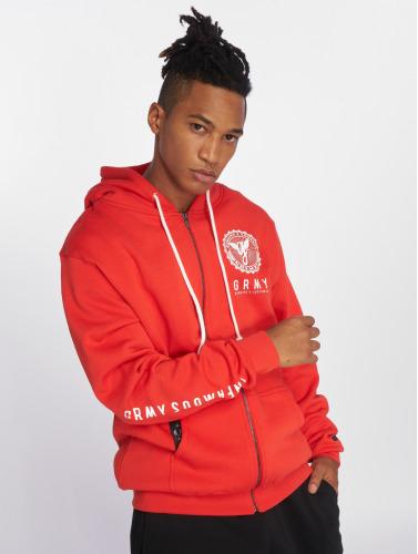 Grimey Wear Hombres Sudaderas con cremallera Core in rojo