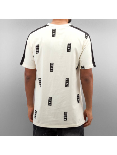 Grimey Wear Herren T-Shirt Stick Up All Over Print in beige