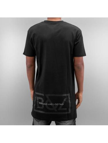 Grimey Wear Herren T-Shirt Fire Eater Long in schwarz