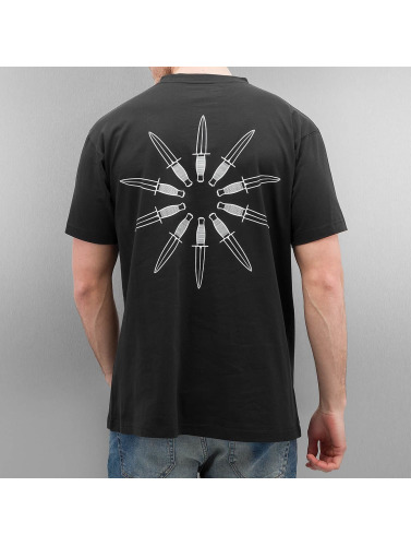 Grimey Wear Herren T-Shirt Ten Stab Wounds in schwarz