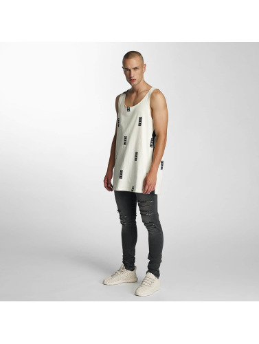 Grimey Wear Hombres Tank Tops Stick Up in blanco