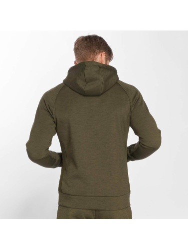 GymCodes Herren Zip Hoodie Athletic-Fit in olive