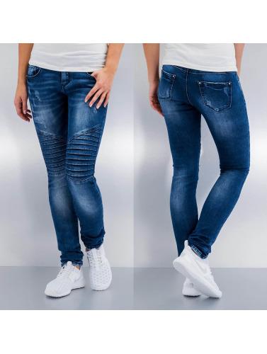 Hailys Damen Skinny Jeans Olivia in blau
