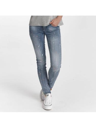 Hailys Damen Skinny Jeans Splashy in blau