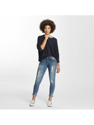 Hailys Damen Skinny Jeans Ines Destroyed in blau