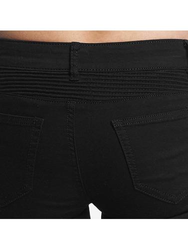 Hailys Damen Skinny Jeans Kina Biker in schwarz