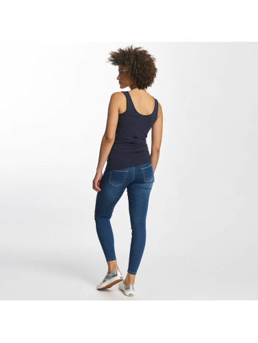 Hailys Mujeres Top Ann Lace-Up in azul