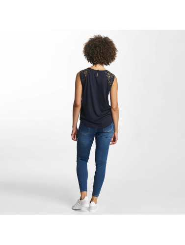 Hailys Damen Top Oni Lace in blau