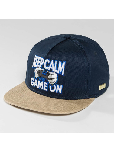 Hands of Gold Snapback Cap Game On in blau