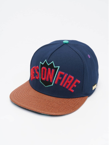 Hands of Gold Snapback Cap On Fire in blau