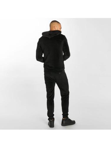 Hechbone Herren Anzug Velours in schwarz