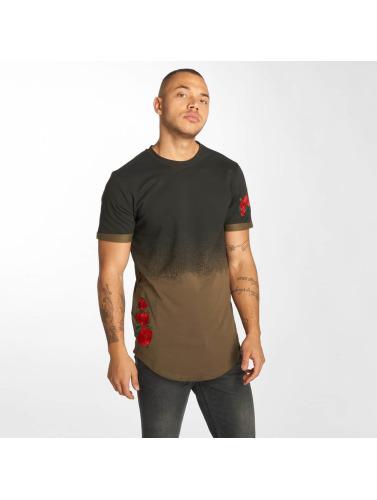 Hechbone Hombres Camiseta Roses in caqui