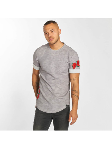 Hechbone Hombres Camiseta Roses in gris
